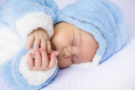 peacefully: Baby sleeps peacefully Stock Photo
