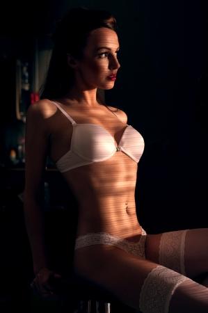 Portrait of a girl in underwear