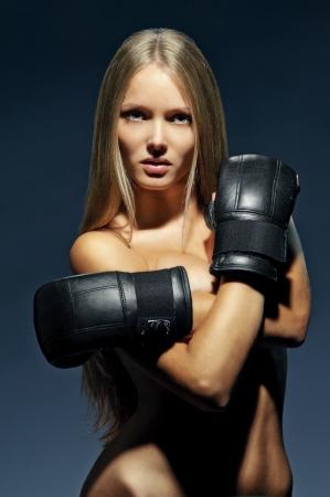 sexy girl boxer photo