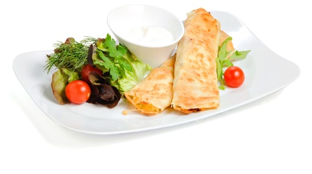 fillings: Pancakes with fillings Stock Photo