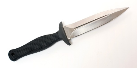 shrugged: Army knife isolated on the white background Stock Photo