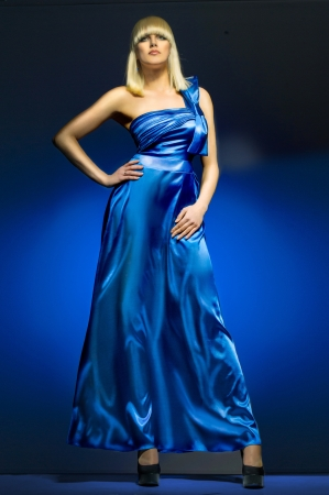 avantegarde: Blue dress