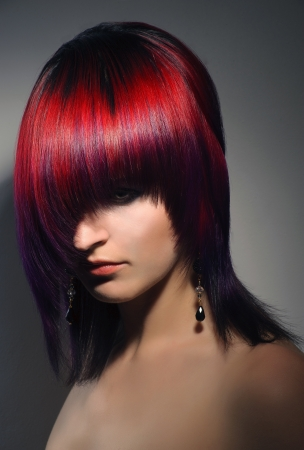 portrait of a beautiful girl, professional hair coloring