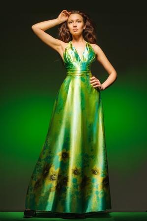avantegarde: green dress