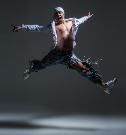 Hip-hop dancer in a studio Stock Photo - 21962763