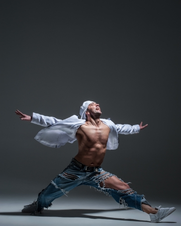 Breakdancer in a studio Stock Photo - 21962766