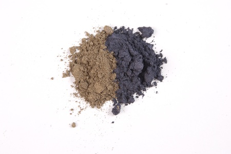 a bunch of two types of cosmetic dust