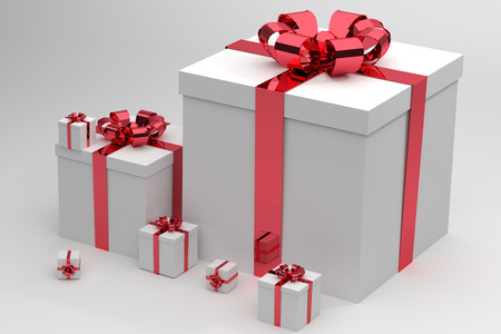 set of gift box isolated photo