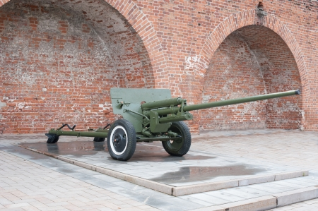 Russian anti-tank regiment 57-mm gun of the Second World War