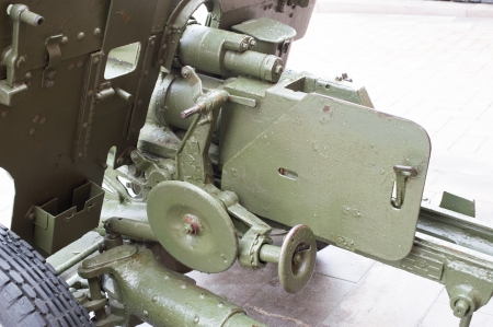 breech of Russian anti-tank regiment 57-mm gun of the Second World War