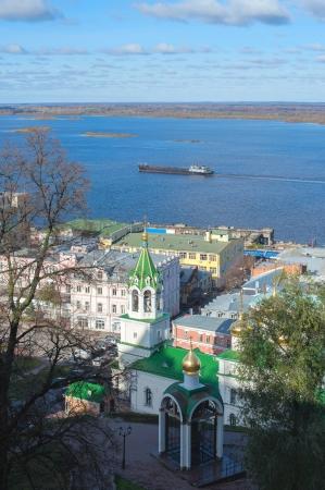 nizhny novgorod: Volga river Nizhny Novgorod