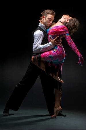 Young couple dancing photo