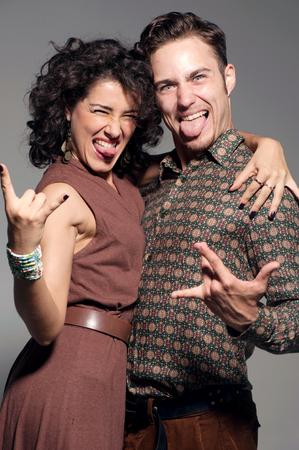 Portrait of crazy young couple