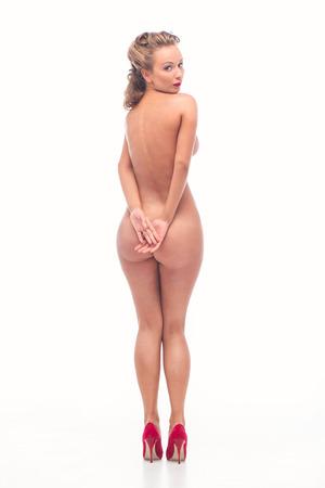 mujer sexy desnuda: Mujer atractiva desnuda