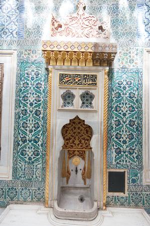 topkapi: Ancient Topkapi palace interior, Istanbul.