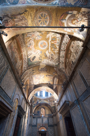 chora: Chora Iglesia antigua Interior, Estambul, Turqu�a