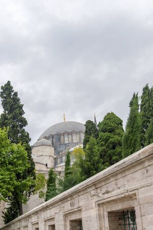 suleyman: Muslim ancient cemetery in down town Istanbul Stock Photo