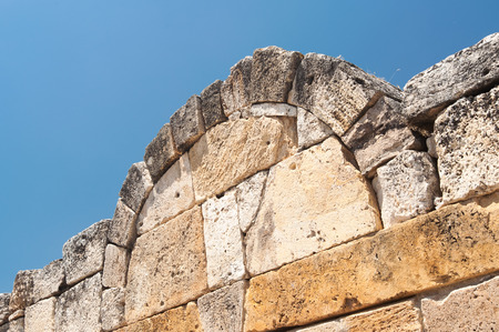 mid afternoon: Ancient castle detail in Pamukkale