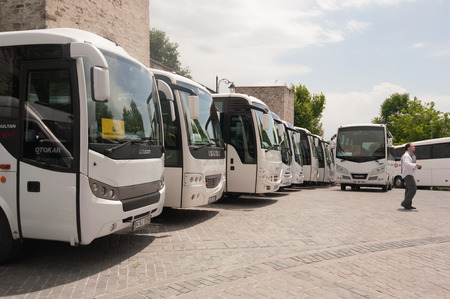 Bus parking in Turkey