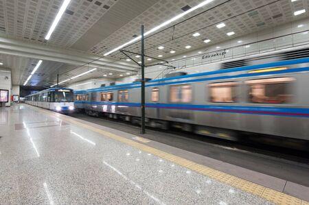 Edirnekapi train station in Istanbul, Turkey