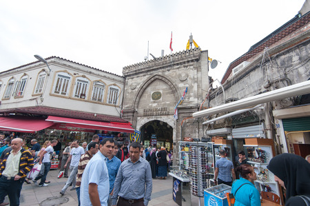 People on Grand Bazaar in Istanbul, Turkey