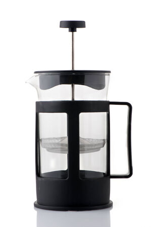 with coffee maker: Close-up of a coffee maker Stock Photo
