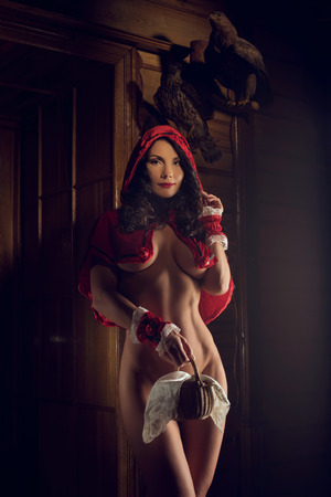 Sexy seductive Red Riding Hood
