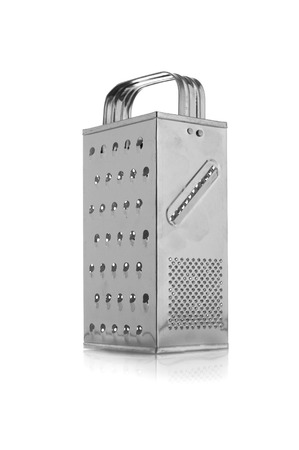 metal grater: Metal grater on  white background