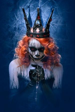 死、ハロウィーンに怖いボディー アートの女王