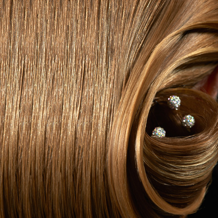 barrettes: Part of  hairstyle background  with  beautiful barrettes