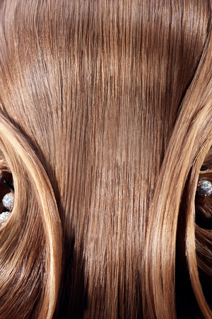 barrettes: Beautiful part of  hairstyle background with  barrettes Stock Photo