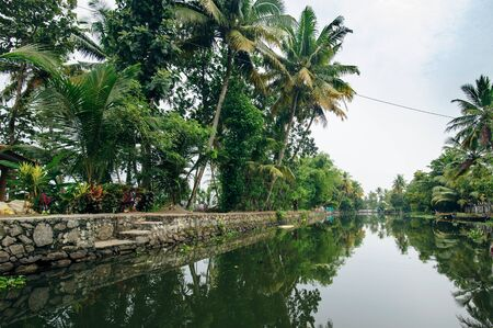 alappuzha: Backwaters in Alappuzha (Alleppey), Kerala state, India Stock Photo