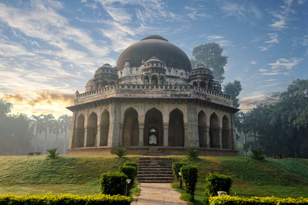 shah: Muhammad Shah Sayyid's Tomb at early morning in Lodi Garden Monuments, Delhi, India
