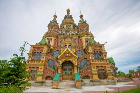 saints peter and paul: Cathedral of Saints Peter and Paul, Peterhof in Saint Petersburg, Russia
