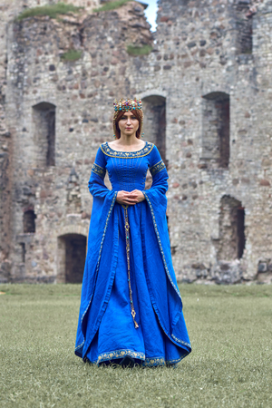 Beautiful Eleanor of Aquitaine, duchess and queen of England and France on High Middle Ages. Mother of Richard the Lionheart.