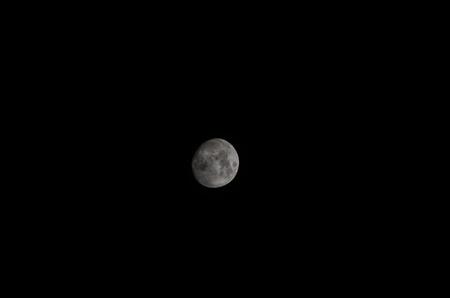 three phase: Three Quarter Moon Stock Photo