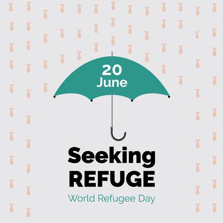 World refugee day poster design. Seeking Refuge