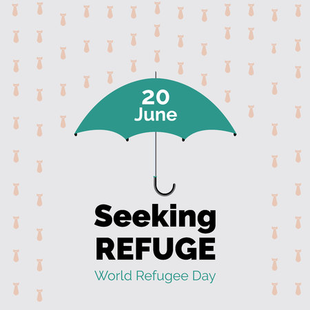 World refugee day poster design. Seeking Refuge