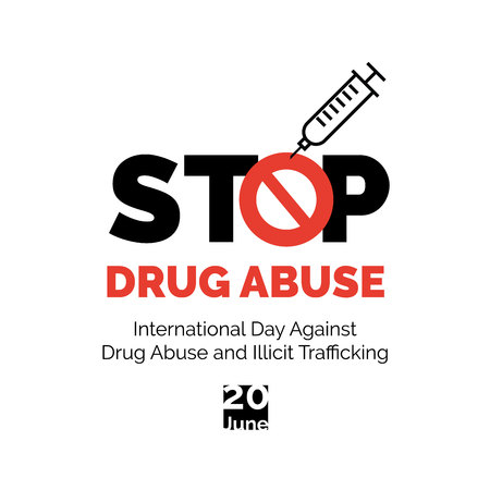 Stop drug abuse poster design. Banque d'images - 101871381
