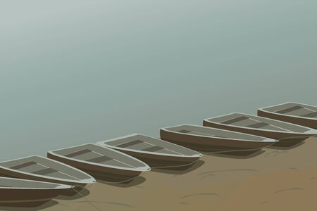 mooring: The boats are mooring on the lake