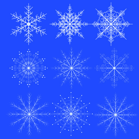 adorning: A set of fine snowflakes for decoration