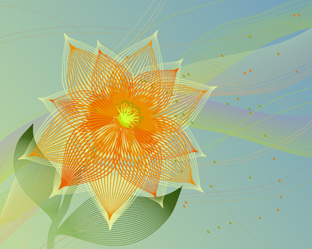 Fancy abstract flower illustration.