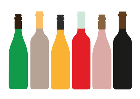 chardonnay: Different Kinds of Wine Bottles Without Labels