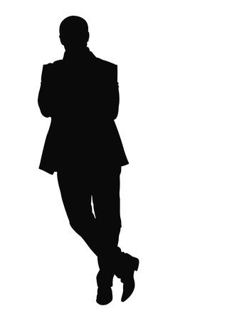 man: vector business man silhouette Illustration