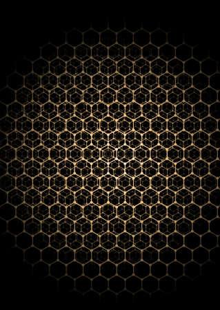 Light hexagons that darken to the edge. With depth effect