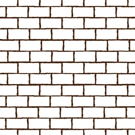 Template wall made of bricks