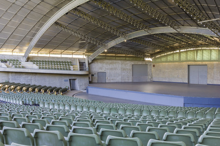 sidney: Melbourne Australia  May 18 2015: Sidney Myer Music Bowl is located in downtown Melbourne. This outdoor performance venue hosts many concerts and festivals in Melbourne Australia. Editorial