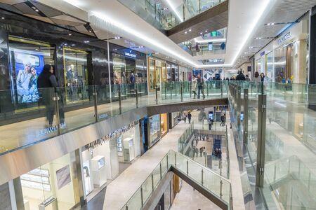 emporium: Melbourne, Australia - August 1, 2015: Interior of Emporium Melbourne, a premier shopping centre with flagship stores over seven levels in the heart of Melbournes CBD.