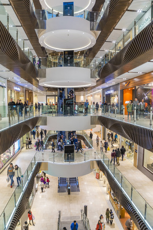 premier: Melbourne, Australia - August 1, 2015: People shopping in Emporium Melbourne, a premier shopping centre with flagship stores over seven levels in the heart of Melbournes CBD.
