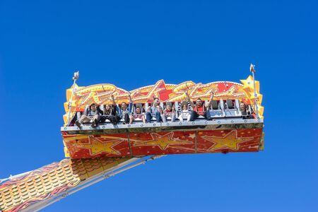 showground: Melbourne, Australia - September 25, 2015: Rockstar  amusement ride in the carnival precinct of the 2015 Royal Melbourne Show. Editorial